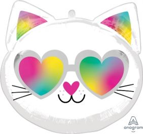 "17""  SHAPE XL COOL KITTY PK"