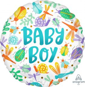 "17"" RND BABY BOY WATERCOLOR PK"