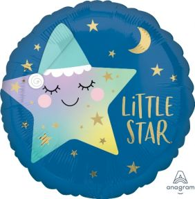 "17"" RND SLEEPY LITTLE STAR (PK)"