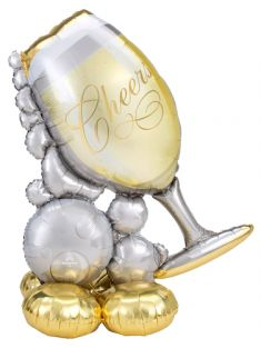 """41""""X51"""" AIRLOONZ BUBBLY WINE GLASS (PK)"""