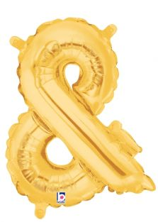 "14"" AMPERSAND GOLD VALVED FOIL"