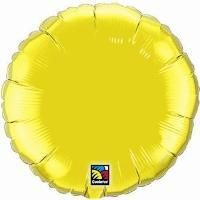 "04"" RND CITRINE YELLOW PLAIN FOIL"
