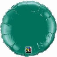 "04"" RND EMERALD GREEN PLAIN FOIL"