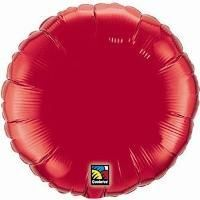 "04"" RND RUBY RED PLAIN FOIL"