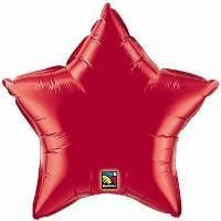 "04"" STAR RUBY RED PLAIN FOIL"