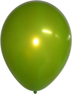 "11"" RND MTLC LIME GREEN FUNTEX 100CT"