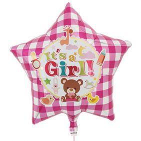 "15"" STAR IT'S A GIRL BEAR"