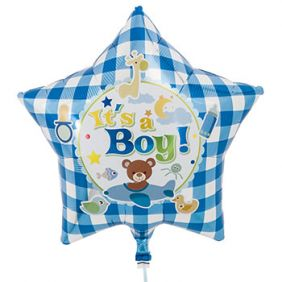 "15"" STAR IT'S A BOY BEAR"