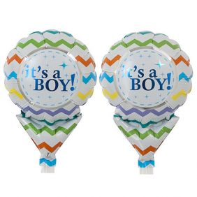 "05"" UPRIGHT IT'S A BOY CHEVRON"