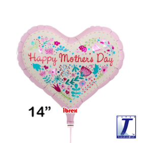 """14"""" HRT JELLY MOTHER'S DAY FLORAL"""