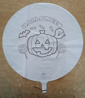 "17"" RND COLOURING BALLOON HALLOWEEN FOIL"