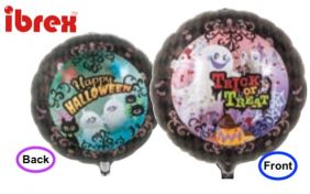 "14"" RND TRICK OR TREAT DARK NIGHT FOIL"