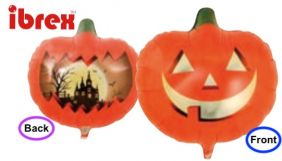 "14"" RND HAUNTED PUMPKIN FOIL"
