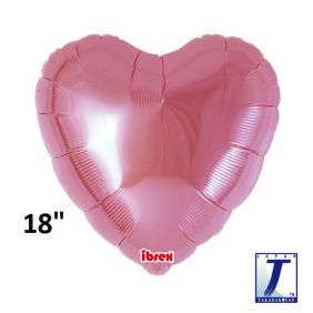 "18"" HRT HEART MTL LIGHT PINK PLAIN FOIL"
