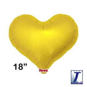 "18"" HRT JELLY HEART MTL GOLD PLAIN FLAT FOIL"