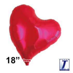 "18"" HRT SWEET HEART MTL RED PLAIN FOIL"