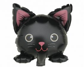"4"" SHAPE BLACK CAT WITH VALVE FLAT FOIL"