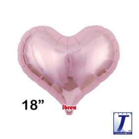 "18"" HRT JELLY HEART MTL LIGHT PINK PLAIN FLAT FOIL"