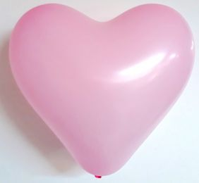 "12"" HEART BABY PINK 100CT"