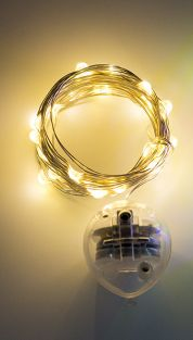 LED STRING LIGHTS (3M, 3MODES WARM WHITE, CR2032 BATTERY)