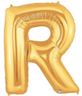 """40"""" LETTER R GOLD POLYBAGGED 1CT/PK"""