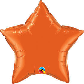 "09"" STAR ORANGE PLAIN FOIL"