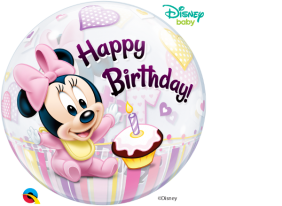 "22"" MINNIE MOUSE 1ST BDAY (PK)"