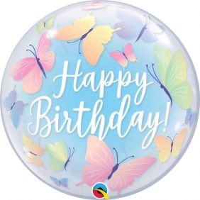 "22"" SB BIRTHDAY SOFT BUTTERFLIES (PK)"