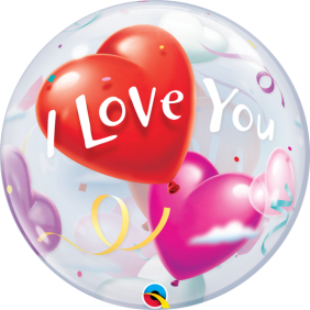 "22"" I LOVE YOU HEART BALLOONS (PK)"