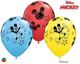 "11"" RND DNJR MICKEY MOUSE SPC AST 25CT"