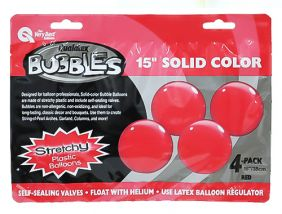"15"" RED SOLID-COLOR BUBBLES (4PC/PK)"