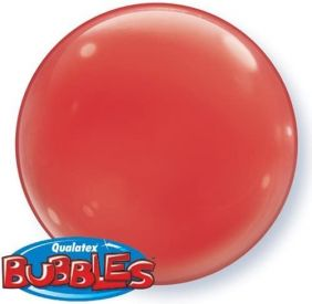 """15"""" SOLID-COLOR BUBBLE RED (4PC/PK)"""