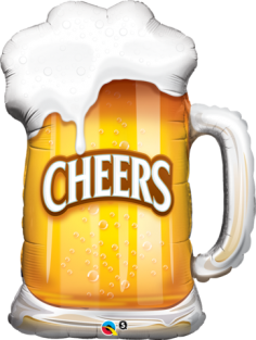 "35"" SHAPE CHEERS! BEER MUG (PK)"