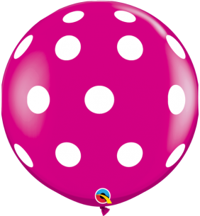 3FT RND BIG POLKA DOTS-A-RND W.BERRY 2CT