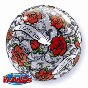 "22"" I LOVE YOU RED ROSE FILIGREE (PK)"