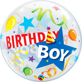 "22"" BDAY BOY PARTY HAT (PK)"