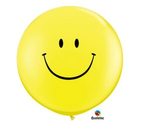 3FT RND SMILE FACE YELLOW 2CT