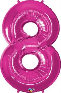 "42"" NUMBER 8(EIGHT) MAGENTA (PK)"