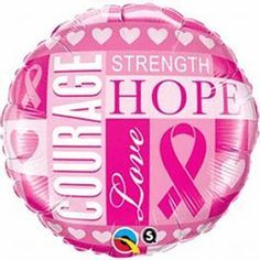 "18"" RND BREAST CANCER INSPIRATIONS(PK)"