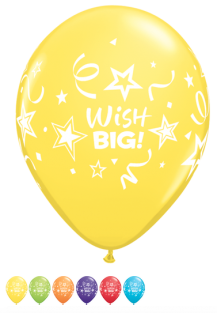 "11"" RND WISH BIG STARS&STREAMERS 50CT"