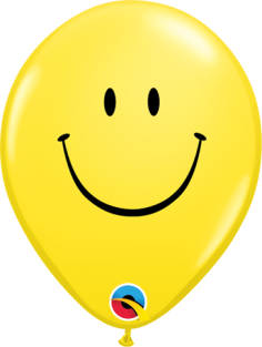 """05"""" RND SMILE FACE YELLOW 100CT"""