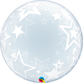 "24"" STYLISH STARS DECO BUBBLE (PK)"