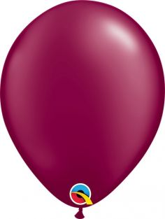 "11"" RND PRL BURGUNDY 100CT"