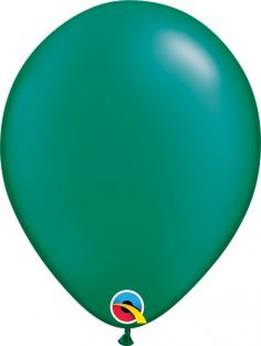 "11"" RND PRL EMERALD GREEN 100CT"