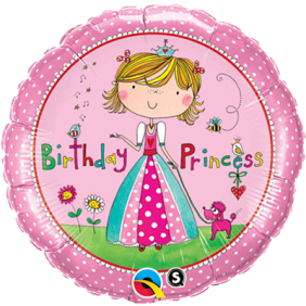 "18"" RND RE-BDAY PRINCESS (PK)"