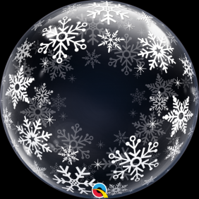 "24"" DECO BUBBLE FROSTY SNOWFLAKES (PK)"
