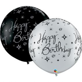 "30"" RND BIRTHDAY SPARKLES & SWIRLS-A-RND 2CT"