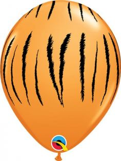 "11"" RND TIGER STRIPES ORANGE 50CT"