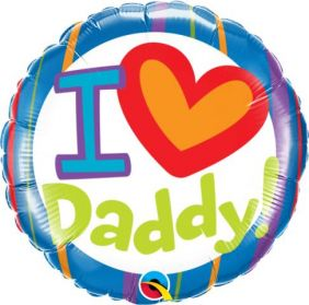 "18"" RND I (HEARTS) DADDY (PK)"