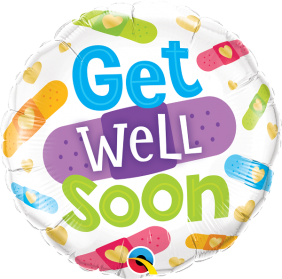 """18"""" RND GET WELL SOON BANDAGES (PK)"""
